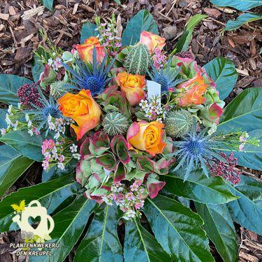 a1-bloemstuk-roos-oranje