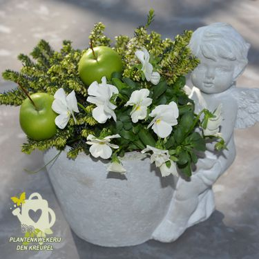 grafdecoratie-engel-appels