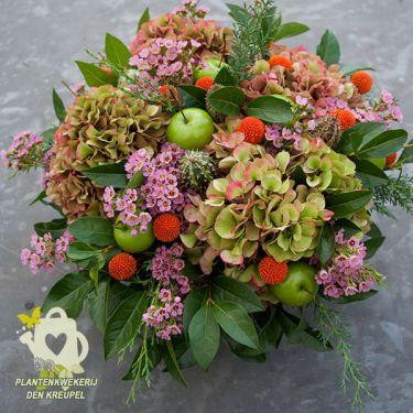 hortensia-bloemstuk